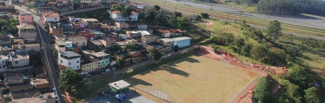Prefeitura inaugura campo de futebol no bairro Nova Vista