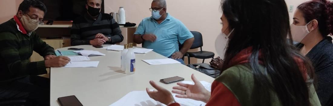 Dirigentes da liga de Itabira, reuni com secretária Natália para acerta detalhes da Copa Luiz MIranda
